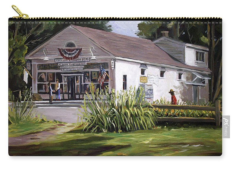 Buildings Carry-all Pouch featuring the painting The Country Store by Nancy Griswold
