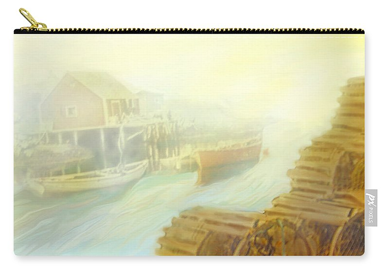 Atlantic Carry-all Pouch featuring the photograph The Cove by Ian MacDonald