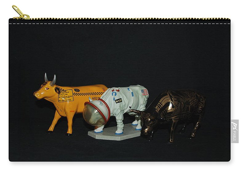 Cows Carry-all Pouch featuring the photograph The Cows by Rob Hans