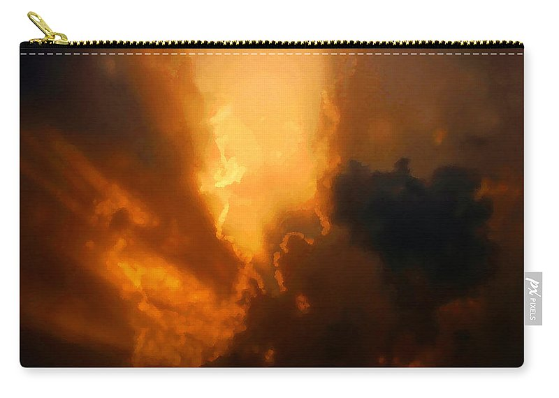 Art Carry-all Pouch featuring the painting The Creation Of Light by David Lee Thompson