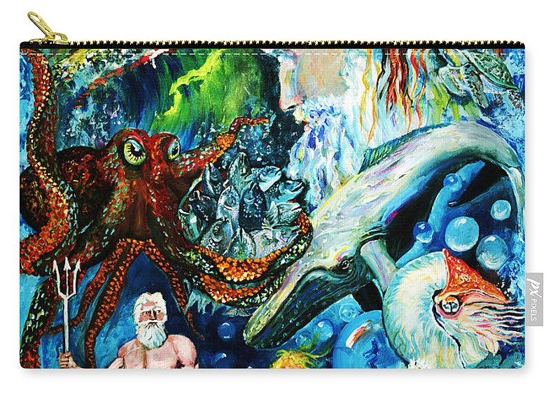Ocean Carry-all Pouch featuring the painting The Creation Of The Ocean by Peter Bonk