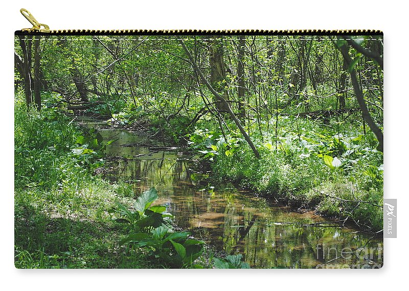 Creek Carry-all Pouch featuring the photograph The Creek by Jost Houk