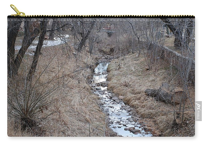 Water Carry-all Pouch featuring the photograph The Creek by Rob Hans