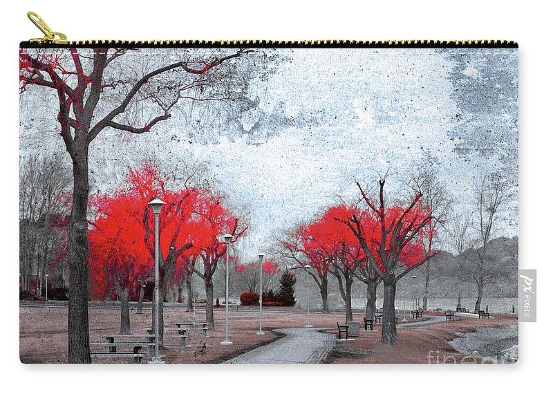 Trees Carry-all Pouch featuring the photograph The Crimson Trees by Tara Turner