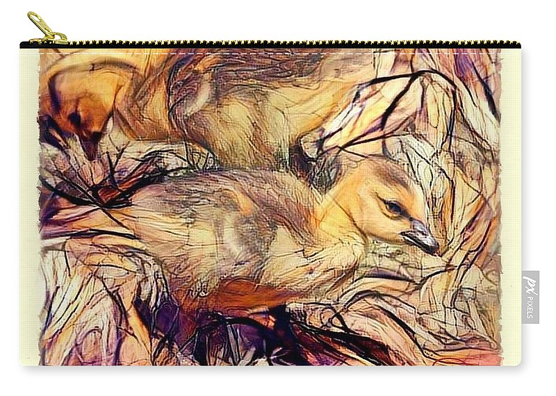 Photo Manipulation Carry-all Pouch featuring the digital art The Critic by Ludwig Keck