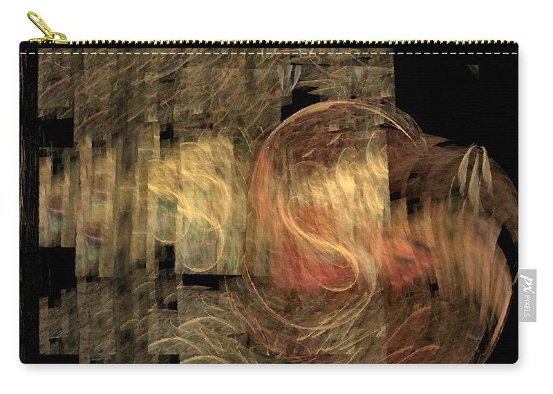 Abstract Carry-all Pouch featuring the digital art The Crooked Road by NirvanaBlues