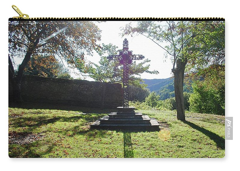 Cross Carry-all Pouch featuring the photograph The Cross by Margaret Fronimos