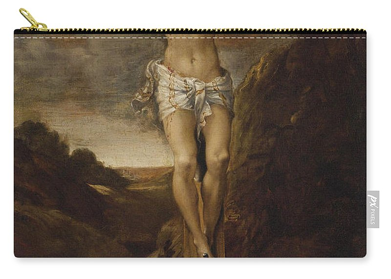Annibale Carracci Carry-all Pouch featuring the painting The Crucifixion by Annibale Carracci