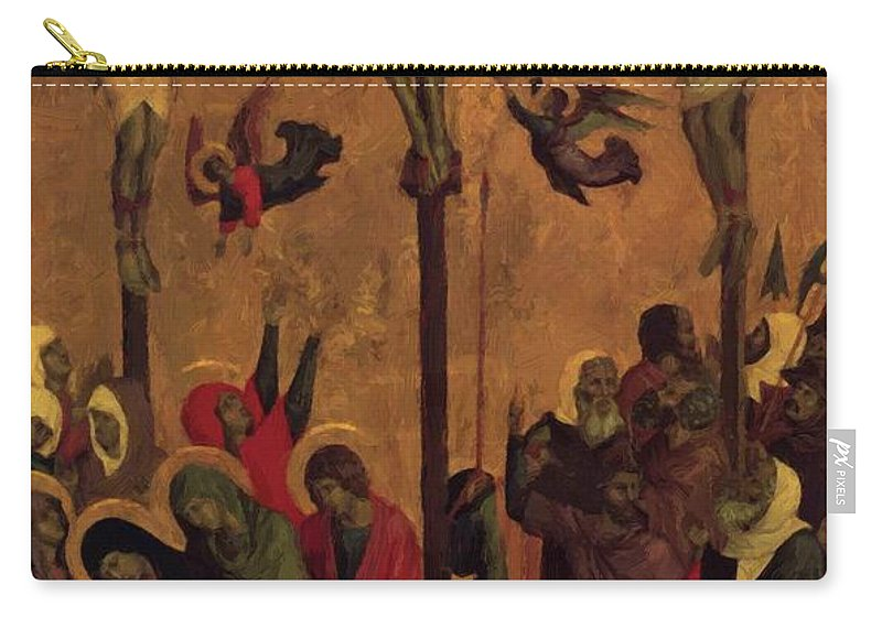 The Carry-all Pouch featuring the painting The Crucifixion by Duccio