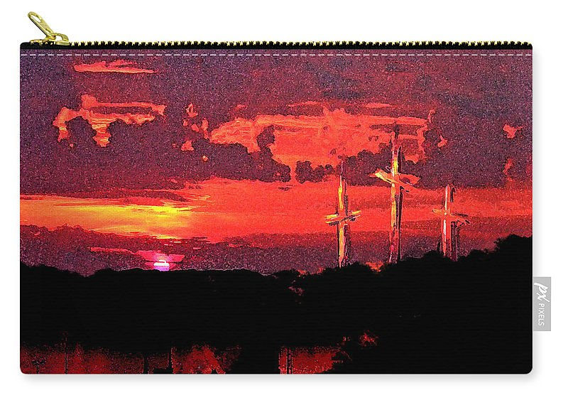 Abstract Carry-all Pouch featuring the painting The Crucifixtion by Rachel Christine Nowicki
