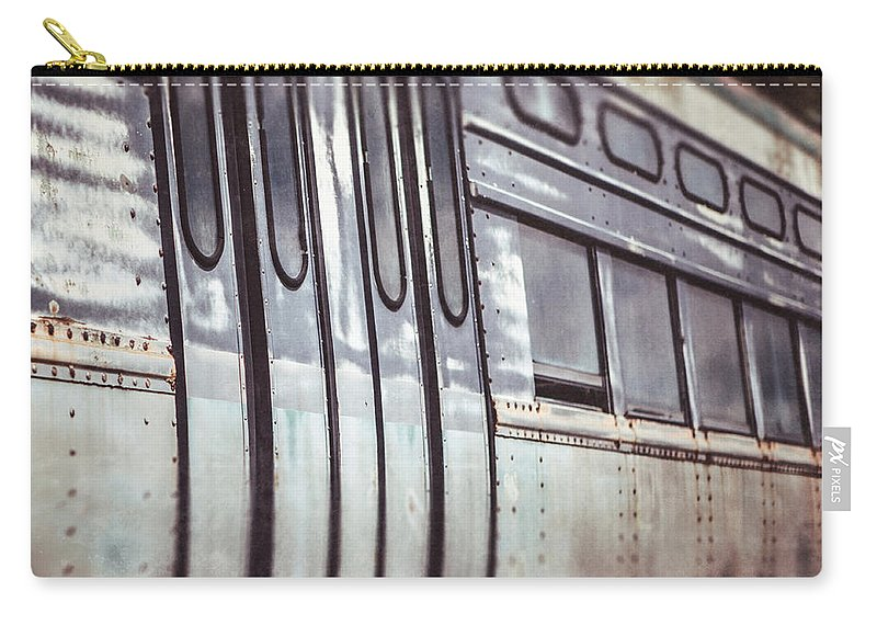 Subway Train Carry-all Pouch featuring the photograph The Cta Train by Lisa Russo