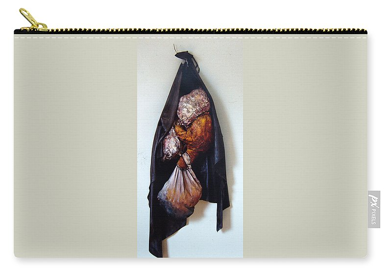Acrylic Carry-all Pouch featuring the painting The Curtain by Nancy Mueller