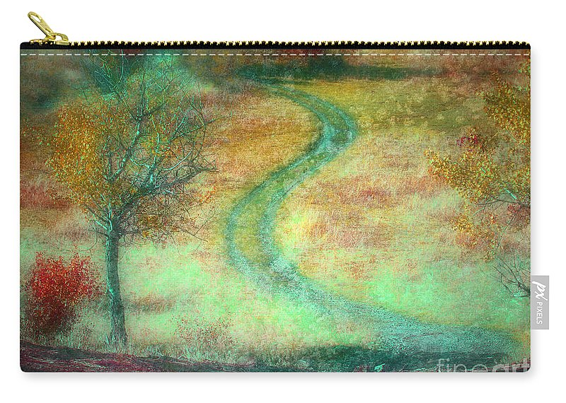 Road Carry-all Pouch featuring the photograph The Curve In The Road by Tara Turner