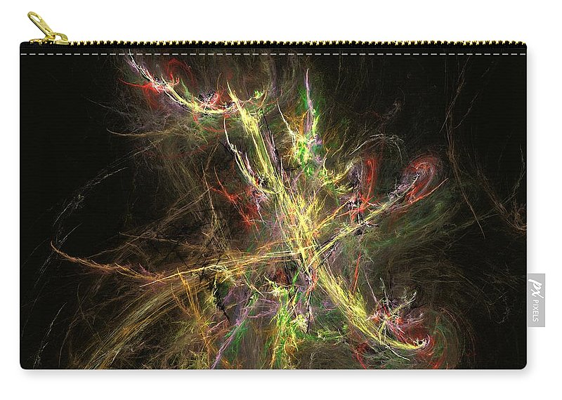 Abstract Digital Photo Carry-all Pouch featuring the digital art The Dance 1 by David Lane