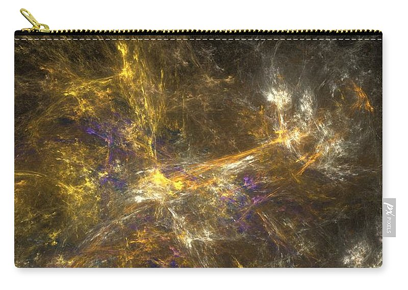 Abstract Digital Photo Carry-all Pouch featuring the digital art The Dance 3 by David Lane