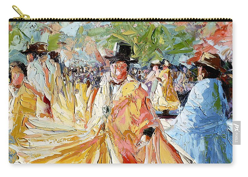 La Paz Carry-all Pouch featuring the painting The Dance At La Paz by Lewis Bowman
