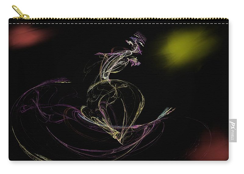 Abstract Digital Photo Carry-all Pouch featuring the digital art The Dance by David Lane