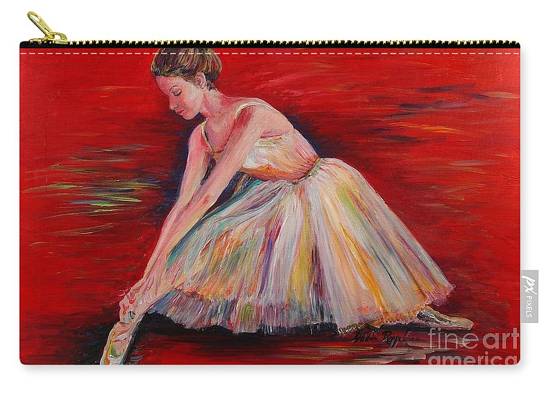 Dancer Carry-all Pouch featuring the painting The Dancer by Nadine Rippelmeyer