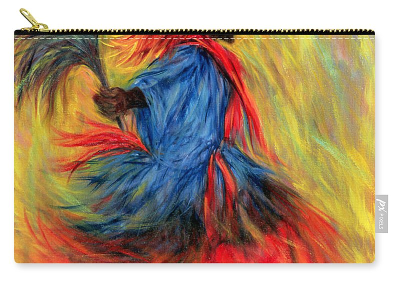 Dancer Carry-all Pouch featuring the painting The Dancer by Tilly Willis