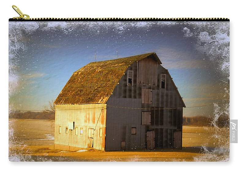 Rustic Carry-all Pouch featuring the photograph The Dapple Barn by Bonfire Photography