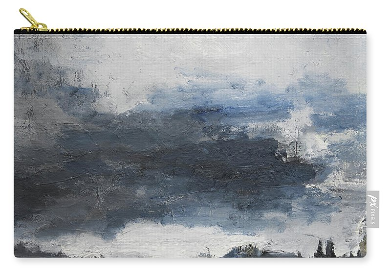 Landscape Carry-all Pouch featuring the painting The Darkening by Craig Newland