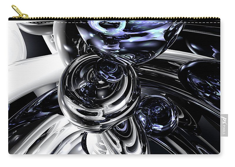 3d Carry-all Pouch featuring the digital art The Darkside Abstract by Alexander Butler