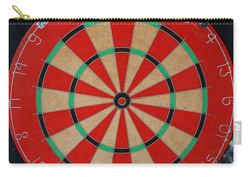 Macro Carry-all Pouch featuring the photograph The Dart Board by Rob Hans