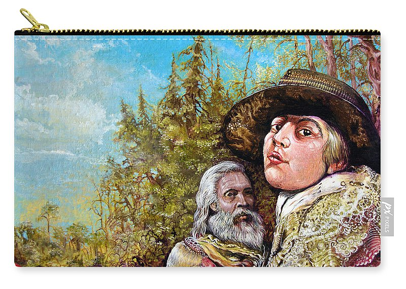 Surrealism Carry-all Pouch featuring the painting The Dauphin And Captain Nemo Discovering Bogomils Island by Otto Rapp