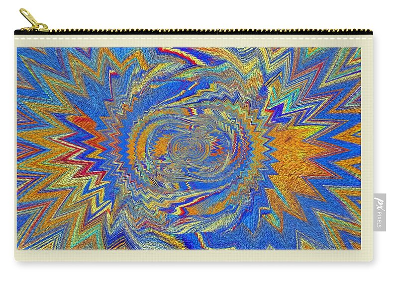 Art Digital Pictures Carry-all Pouch featuring the digital art The Dawn Of Hope by Halina Nechyporuk