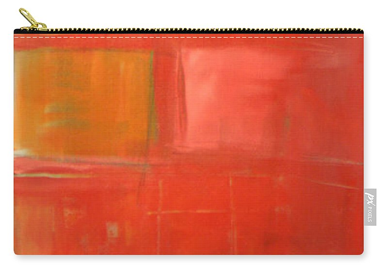 Red Carry-all Pouch featuring the painting The Day Tim Russert Died by Tim Nyberg