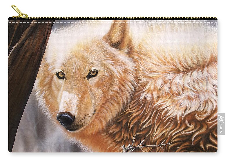 Acrylic Carry-all Pouch featuring the painting The Daystar II by Sandi Baker