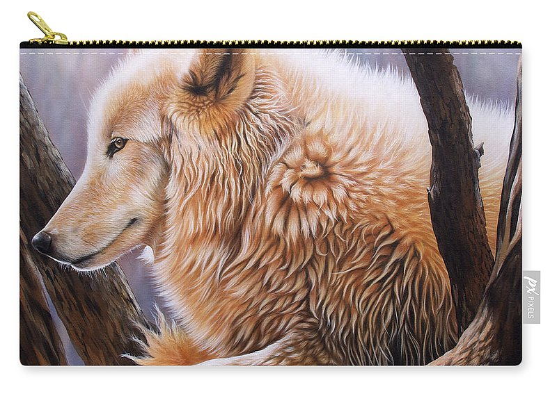 Acrylic Carry-all Pouch featuring the painting The Daystar by Sandi Baker