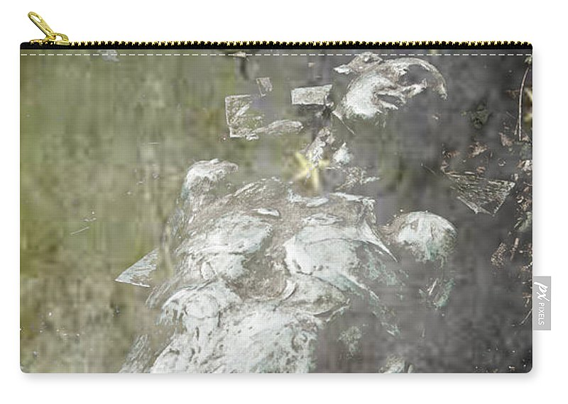 The Death Carry-all Pouch featuring the photograph The Death by Alex Art and Photo