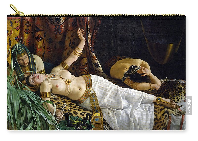 Achille Glisenti Carry-all Pouch featuring the painting The Death Of Cleopatra by Achille Glisenti