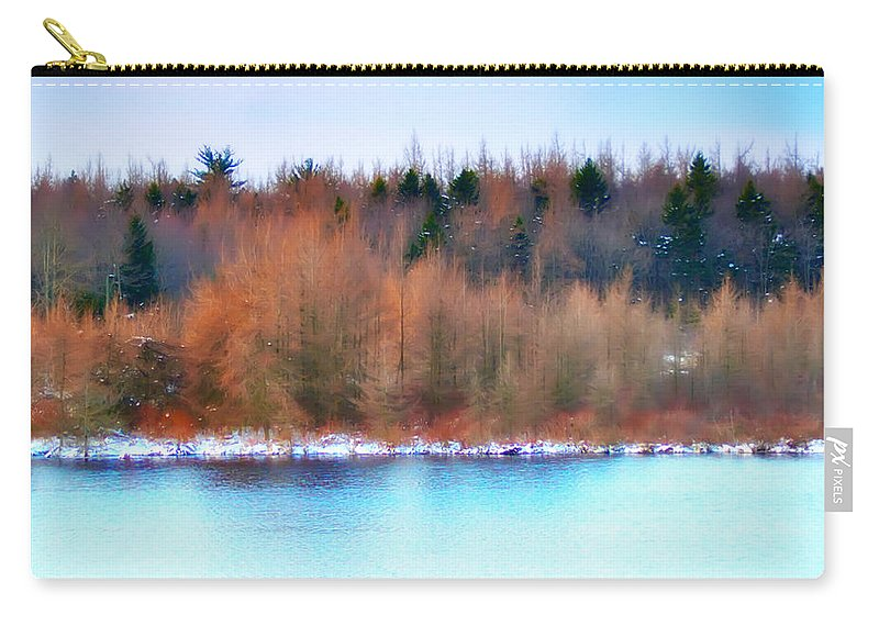 Lake Carry-all Pouch featuring the photograph The Deep Forbidden Lake by Bill Cannon