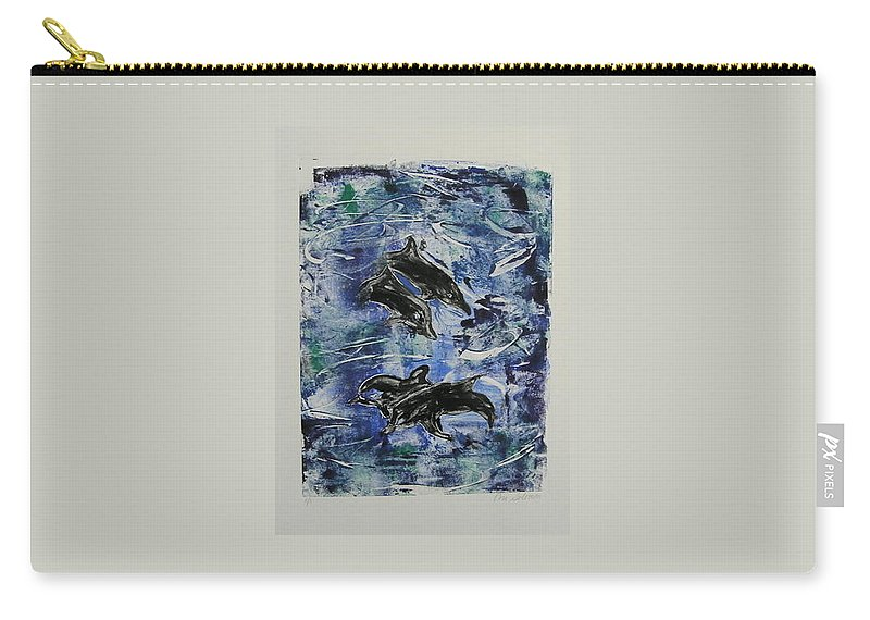 Monotype Carry-all Pouch featuring the mixed media The Deep Sea by Cori Solomon