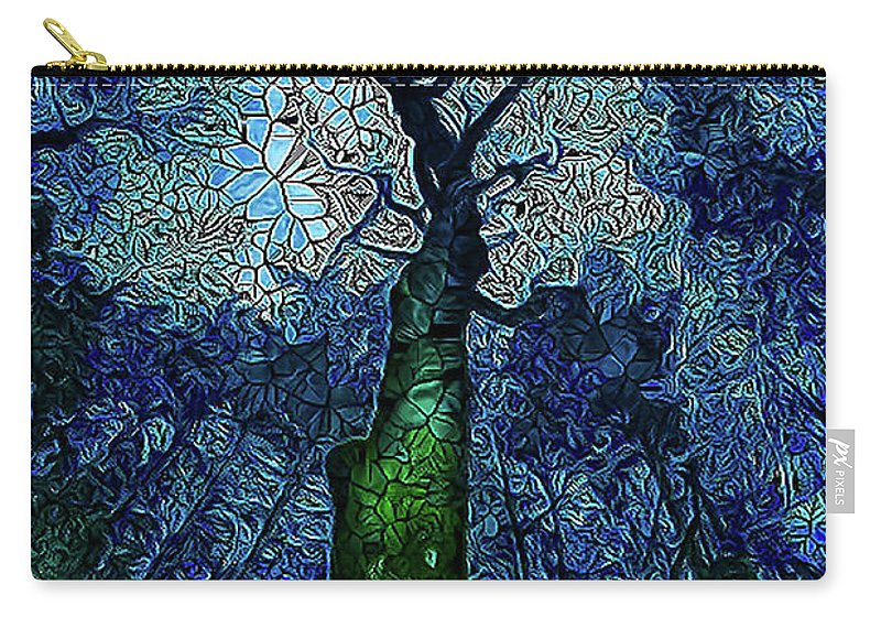 Tree Carry-all Pouch featuring the photograph The Deep Wood by Paula OMalley