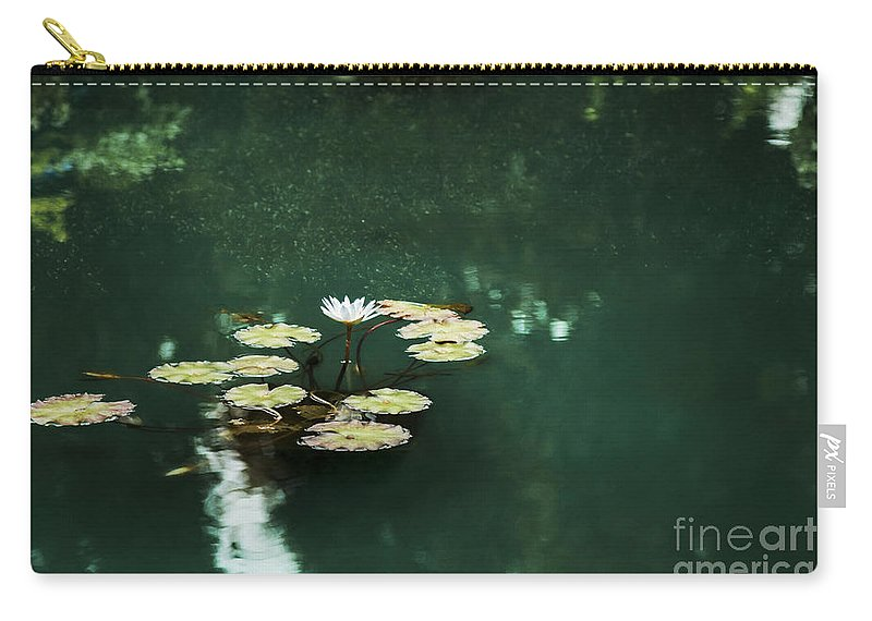 Lily Carry-all Pouch featuring the photograph The Depths Of Lily by Margie Hurwich