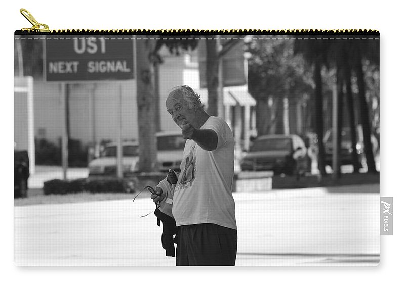 Black And White Carry-all Pouch featuring the photograph The Devil Man by Rob Hans