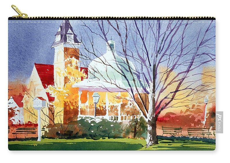 Ligonier Carry-all Pouch featuring the painting The Diamond In October by Lee Klingenberg