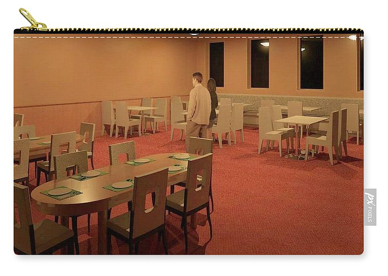 Rendering Carry-all Pouch featuring the digital art The Dining Room by Ron Bissett