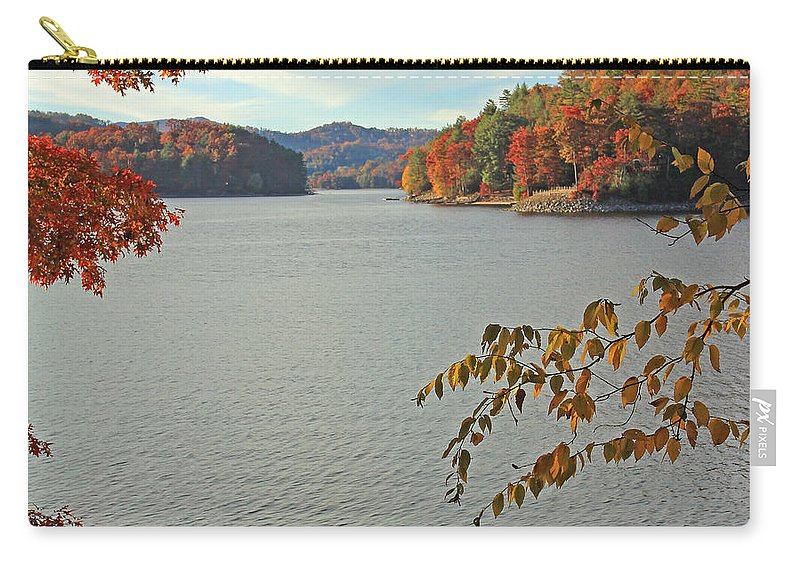 Autumn Carry-all Pouch featuring the photograph The Dock by Jennifer Robin