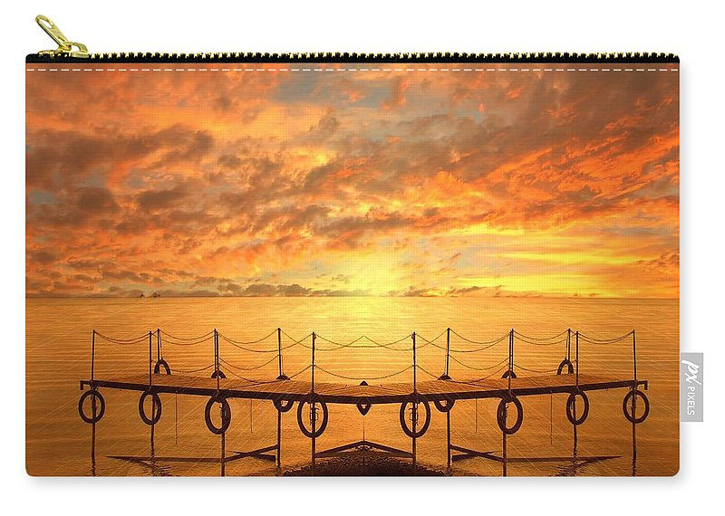 Waterscape Carry-all Pouch featuring the photograph The Dock by Jacky Gerritsen