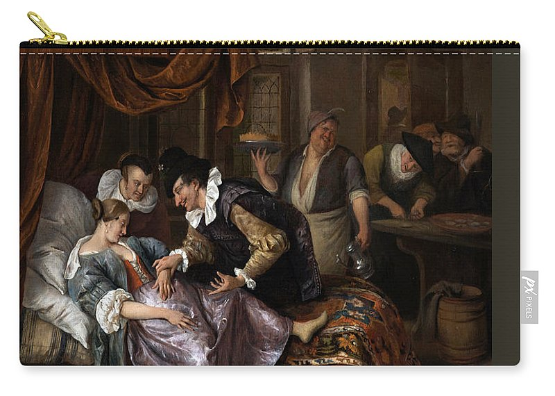 Jan Steen Carry-all Pouch featuring the painting The Doctor's Visit by Jan Steen