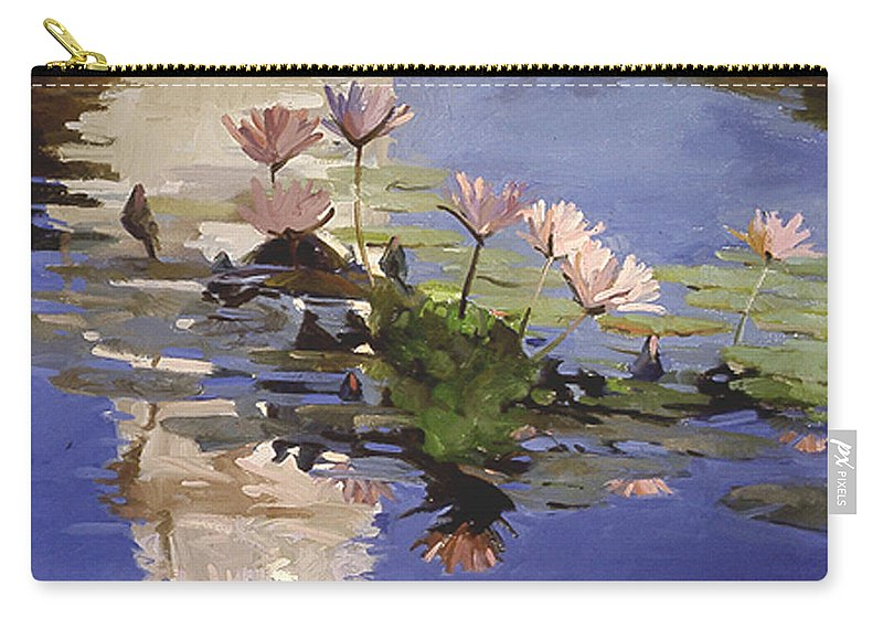 Water Lilies Carry-all Pouch featuring the painting The Dome - Water Lilies by Betty Jean Billups