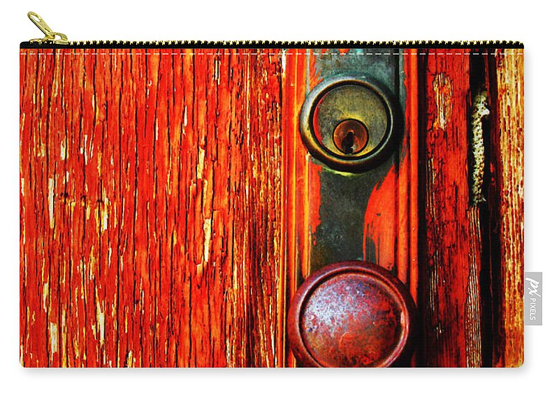 Door Carry-all Pouch featuring the photograph The Door Handle by Tara Turner