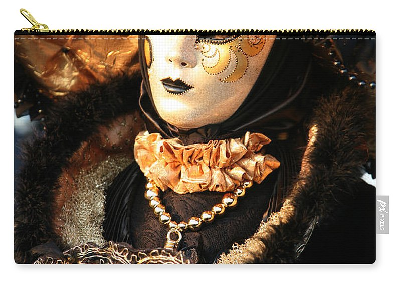 Venice Carry-all Pouch featuring the photograph The Dotted Face by Donna Corless