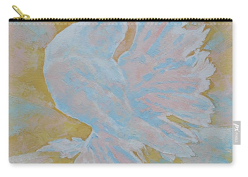 Dove Carry-all Pouch featuring the painting The Dove by Iliyan Bozhanov