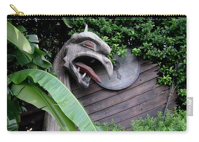 Dragon Carry-all Pouch featuring the photograph The Dragon In The Garden by Rachel Kaufmann