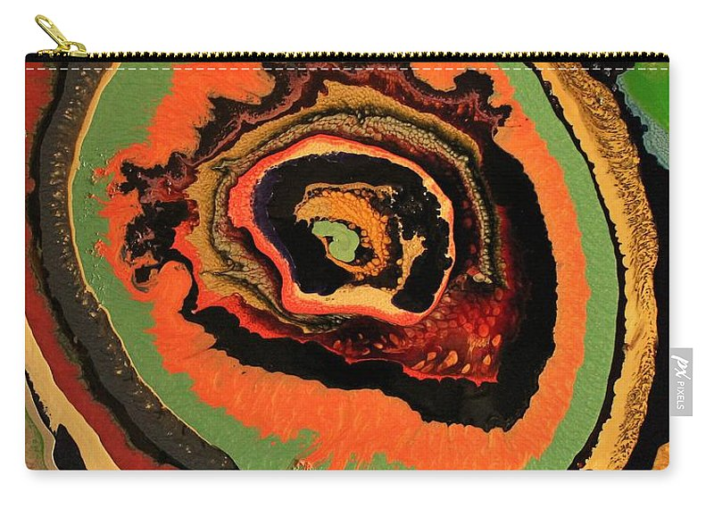 Abstract Carry-all Pouch featuring the painting The Dragons Eye by Douglas W Warawa